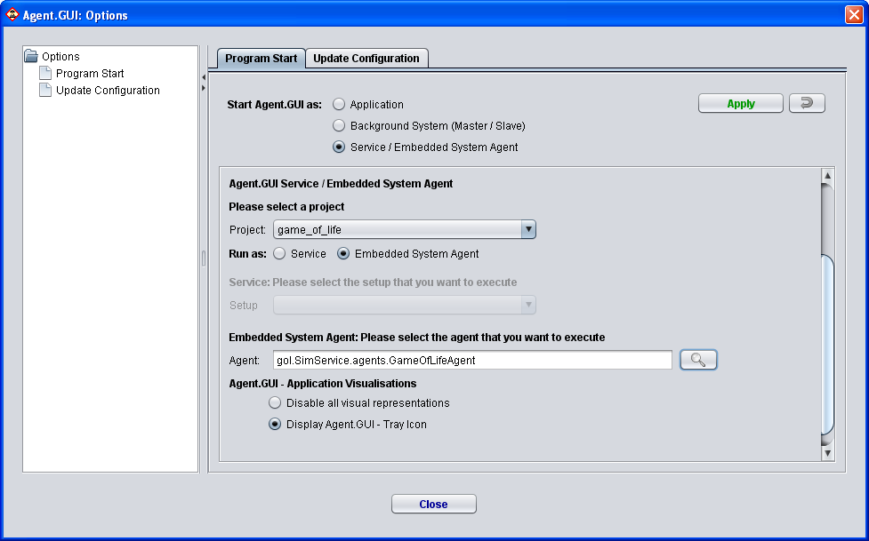 Agent.GUI-Execution Mode: Embedded System Agent